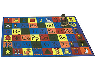around the block educational classroom rugs for kids
