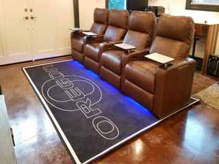 Customized Plush Carpet Mat High Definition Logo Area Rug